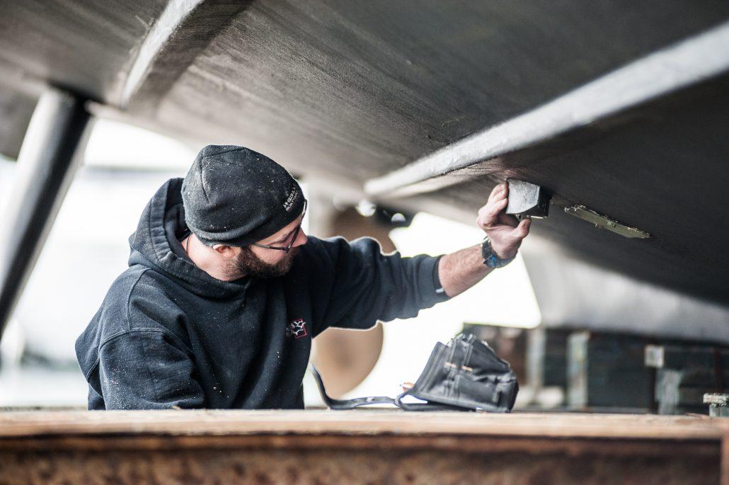 Charles Edmonds in his joiner apprenticeship in British Columbia.