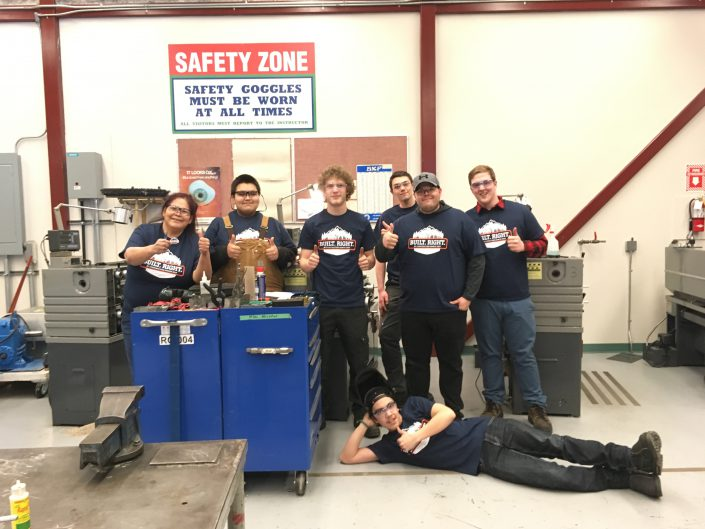 STEP REPS Veronica with Millwright class in Prince Rupert, BC.