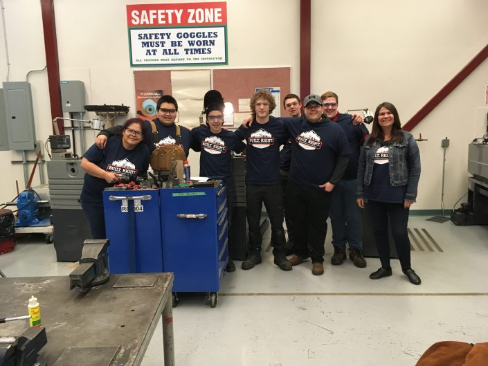 STEP REPS Veronica with Millwright Foundation-Harmonized class in Prince Rupert via Coast Mountain College.